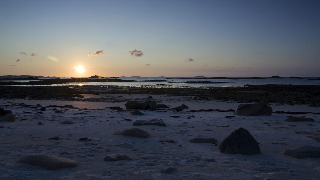 coucher de soleil sur les 7 îles