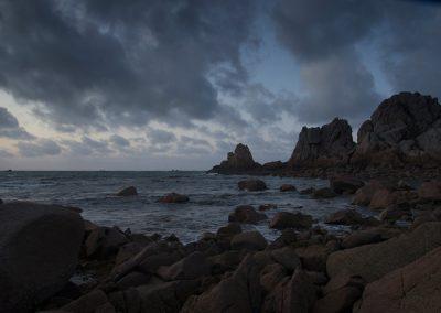 la nuit tombe sur Port Scaff