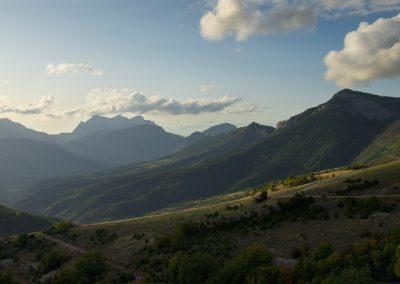 fin de journée sur la vallée de la Roanne
