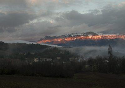 Le Glandasse s'illumine un soir de Noël à Barnave