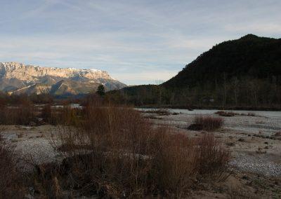 sur les bords de la Drôme en décembre